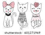 vector series with cute fashion ... | Shutterstock .eps vector #601271969