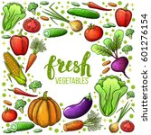 colorful sketch style set of... | Shutterstock .eps vector #601276154