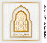 ramadan kareem background.... | Shutterstock .eps vector #601276709