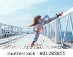 fitness sport girl in fashion...   Shutterstock . vector #601283855