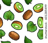 vector seamless pattern with... | Shutterstock .eps vector #601285499