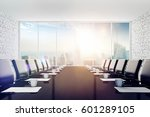 3d office room with conference... | Shutterstock . vector #601289105