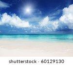 sand of beach caribbean sea | Shutterstock . vector #60129130