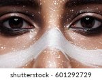 fashion woman with smoky eyes... | Shutterstock . vector #601292729