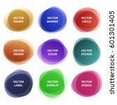 different colorful round... | Shutterstock .eps vector #601301405