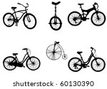bicycles | Shutterstock .eps vector #60130390