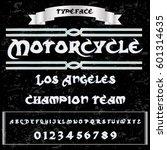 motorcycle script handcrafted... | Shutterstock .eps vector #601314635