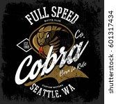 vintage american furious cobra... | Shutterstock .eps vector #601317434