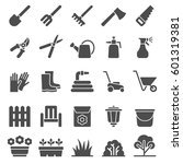 web icons set  of gardening.... | Shutterstock .eps vector #601319381