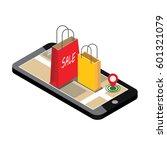 online shopping and e commerce... | Shutterstock .eps vector #601321079