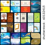 set of variety business cards ... | Shutterstock .eps vector #60132415