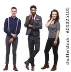 group of full body people | Shutterstock . vector #601325105