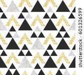 gold geometric triangle... | Shutterstock .eps vector #601326599