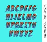 creative font. vector alphabet... | Shutterstock .eps vector #601334771