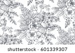 seamless pattern with hand... | Shutterstock .eps vector #601339307