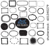 set of sketch drawn frames.... | Shutterstock .eps vector #601340279