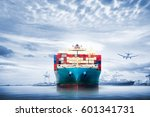 logistics and transportation of ... | Shutterstock . vector #601341731