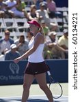 CARLSBAD, CA - AUGUST 07: Coco Vandeweghe participates in a doubles exhibition at the Mercury Insurance Open at La Costa Resort and Spa on August 7, 2010 in Carlsbad, CA. - stock photo