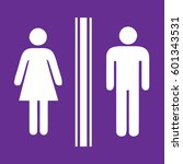 toilet sign man and lady  ... | Shutterstock .eps vector #601343531
