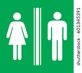 toilet sign man and lady  ... | Shutterstock .eps vector #601345391