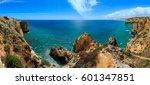 atlantic ocean summer rocky... | Shutterstock . vector #601347851