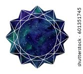 geometric cosmic flower ... | Shutterstock .eps vector #601351745