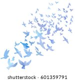 bird flock  watercolor flying... | Shutterstock . vector #601359791