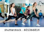 smiling females working out at... | Shutterstock . vector #601366814