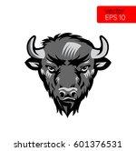American Bison Bull Mascot Hea...