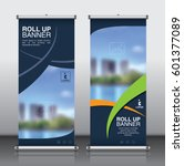 roll up banner design template... | Shutterstock .eps vector #601377089