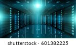 dark server room data center... | Shutterstock . vector #601382225