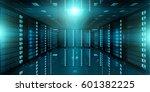 dark server room data center... | Shutterstock . vector #601382225