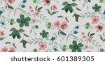 seamless floral pattern in... | Shutterstock .eps vector #601389305