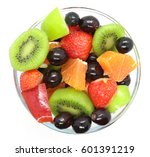 bowl of healthy fresh fruit... | Shutterstock . vector #601391219