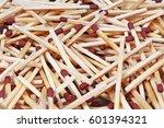 match sticks with brown heads... | Shutterstock . vector #601394321