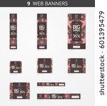 vector advertising web banners... | Shutterstock .eps vector #601395479