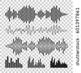 vector sound waveforms icon.... | Shutterstock .eps vector #601397861