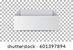 white cardboard package box.... | Shutterstock .eps vector #601397894