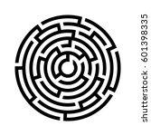 circle maze icon. vector... | Shutterstock .eps vector #601398335
