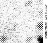 black and white halftone... | Shutterstock .eps vector #601413869