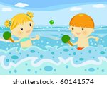 children playing rackets in the ... | Shutterstock . vector #60141574