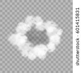 realistic round cloud frame on...   Shutterstock .eps vector #601415831