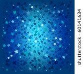Abstract Christmas Blue Stars...