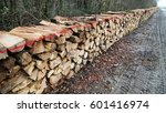 wood pile sorted beside the... | Shutterstock . vector #601416974