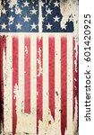 grunge usa flag | Shutterstock . vector #601420925