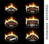 set of six hot sale horizontal... | Shutterstock .eps vector #601423421