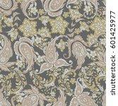 paisley floral oriental ethnic... | Shutterstock .eps vector #601425977
