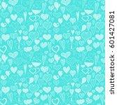 hand drawing seamless pattern... | Shutterstock .eps vector #601427081