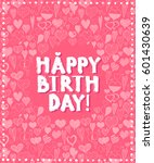 happy birthday grunge... | Shutterstock .eps vector #601430639