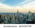 new york city skyline with... | Shutterstock . vector #601434749